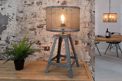 Lampe à poser design Loft métal argent 60 cm