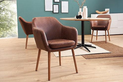 Chaise design brun vintage Supreme 80 cm