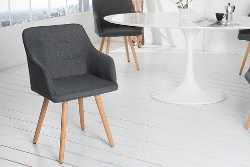 Chaise design Scandinavia tissu gris 84 cm