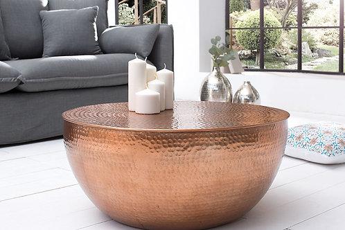 Table basse en aluminium cuivré design Optik 68 cm