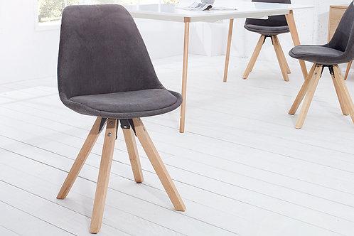 Chaise design Sacndinavia bois massif/gris 86 cm