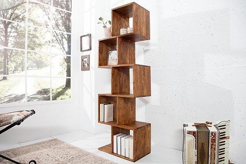 Étagère en bois massif design Makassar 5 niveaux 150 cm