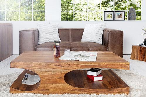 Table basse design Goa bois palissandre 120 cm