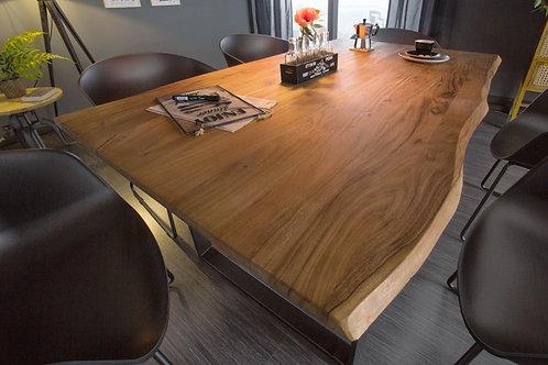 Table à manger Mammut 140cm acacia sauvage 26mm