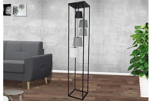 Lampadaire design Level II en métal/tissu 5 lumières 180 cm