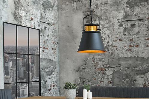 Suspension design Luz en métal noir/or 149 cm