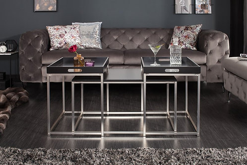 Elements table basse set de 3 plateau noir