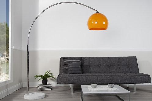 Lampadaire arc design Big Bow II orange 205 cm