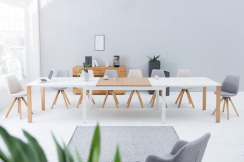 Table à manger extensible design Continental 180-420cm chêne blanc