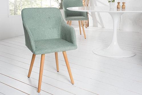 Chaise design Scandinavia bleu turquoise 84 cm