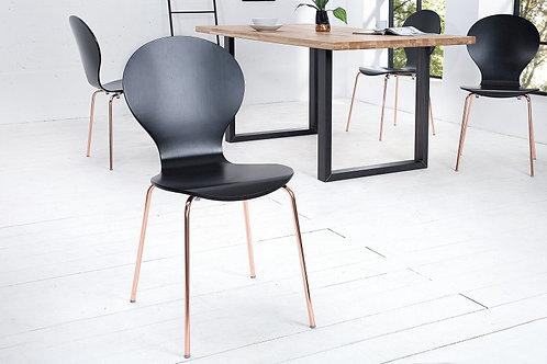 Chaise design Forme cuivre noir