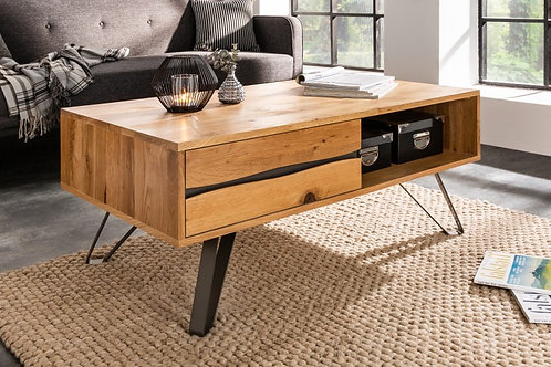 Table basse Living Edge 110cm chêne sauvage