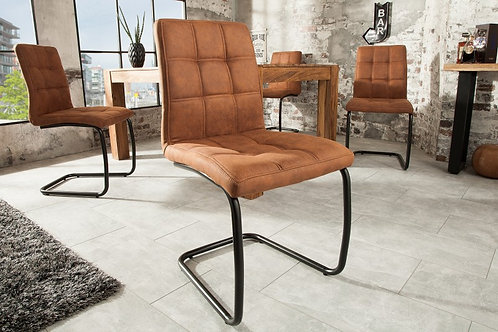 Chaise design Modena vintage marron