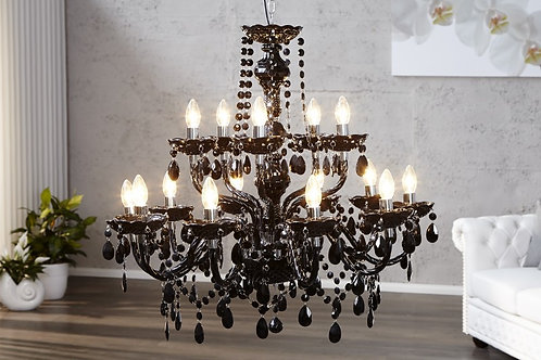 Lampe à suspension design Diamonds Noir 15 lumières