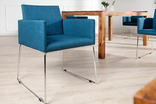 Chaise design Livorno métal/bleu antique 80 cm