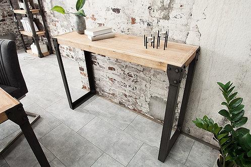 Console industrielle Akazie métal/bois acacia gris chaulé 121 cm