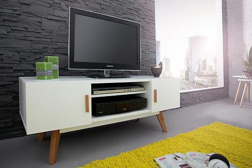Meuble TV design Scandinavia en bois chêne blanc 120 cm