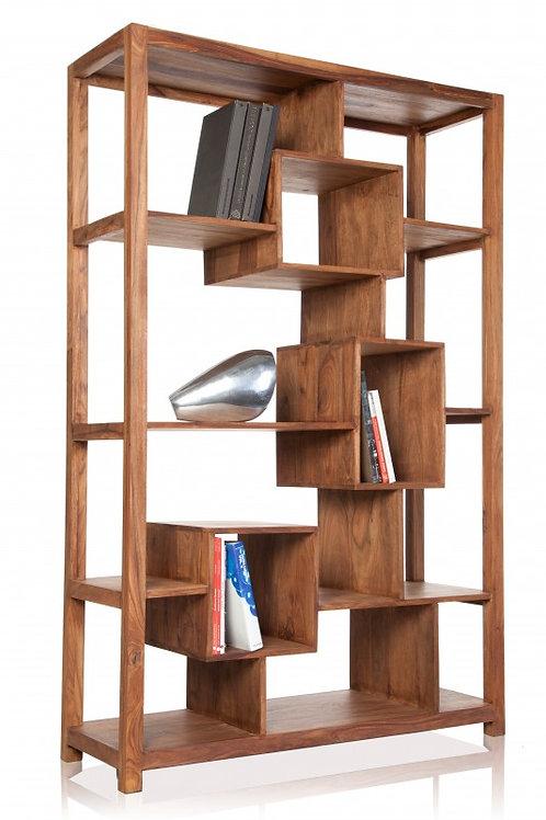 Étagère en bois design Makassar bois de Sheesham 12 niveaux 180 cm