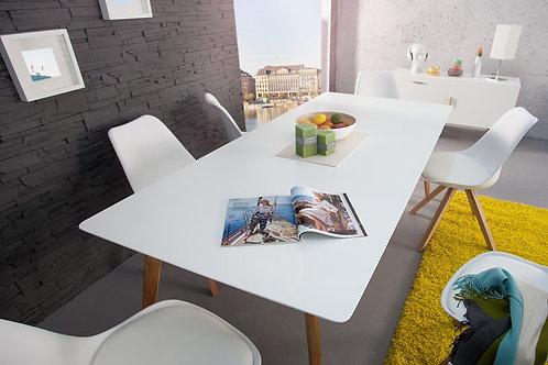 Table repas design Scandinavia bois chêne blanc 200 cm