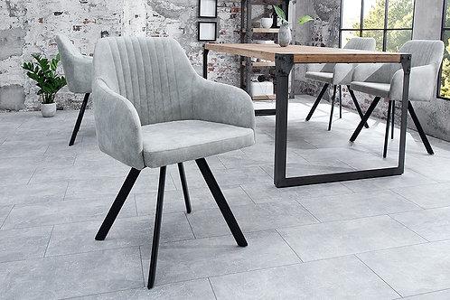 Chaise design Lucca vintage gris pierre 84 cm
