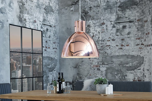 Lampe à suspension design Lexington en métal cuivré S 41 cm