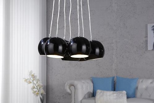 Lampe à suspension design Black Pearls 7 luminaires