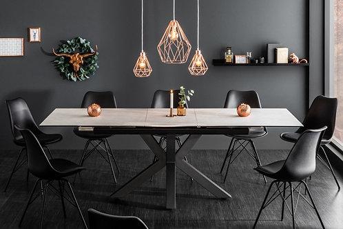 Table à manger Eternity 180-225cm béton céramique