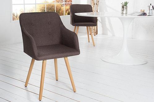 Chaise design Scandinavia tissu café antique 84 cm