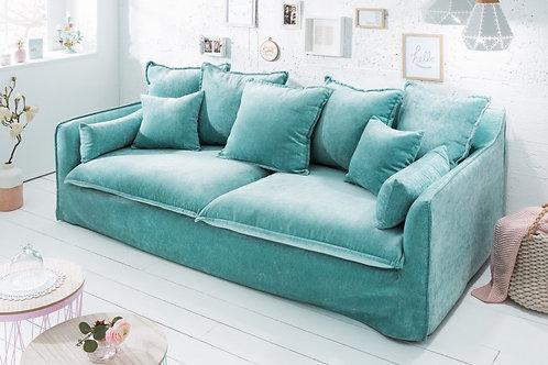 Canapé design Heaven aqua velvet