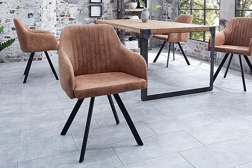Chaise design Lucca vintage marron 84 cm