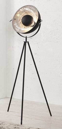 Lampadaire design Big Studio 160cm noir et argent