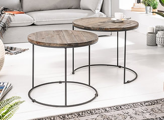 Table d'appoint design River 2 Set Acacia