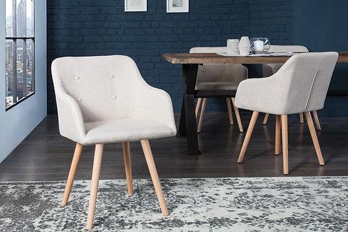 Chaise design Scandinavia tissu beige 84 cm