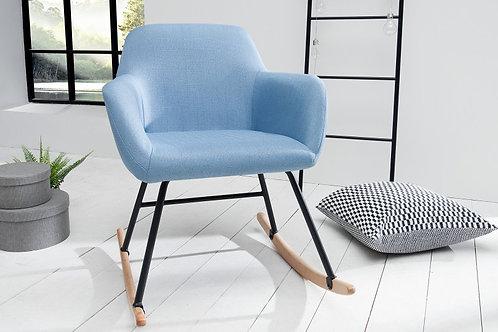 Rocking Chair design Scandinavia bleu clair