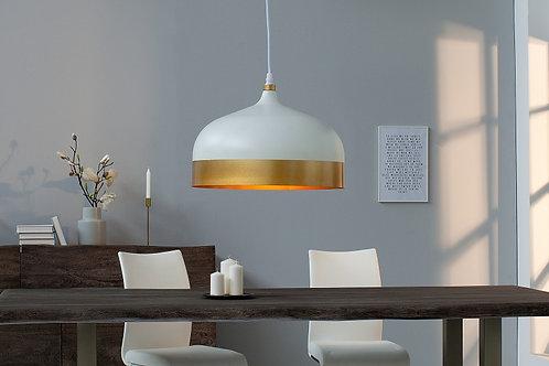 Suspension design Modern en métal blanc/or 147 cm