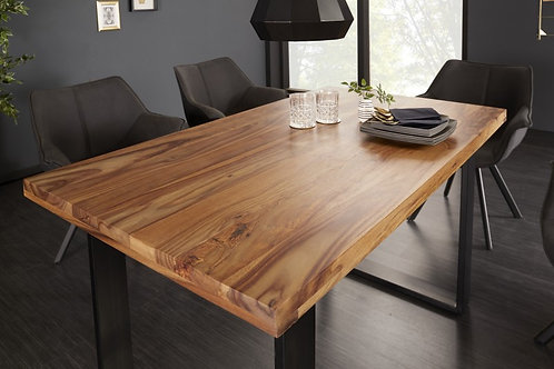 Table à manger Iron Craft 120cm Sheesham 45mm