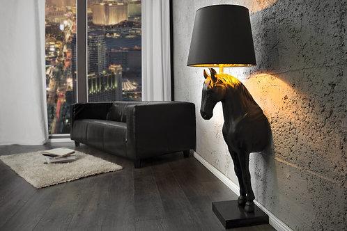 Lampadaire design Black Beauty marbre/polyrésine 130 cm