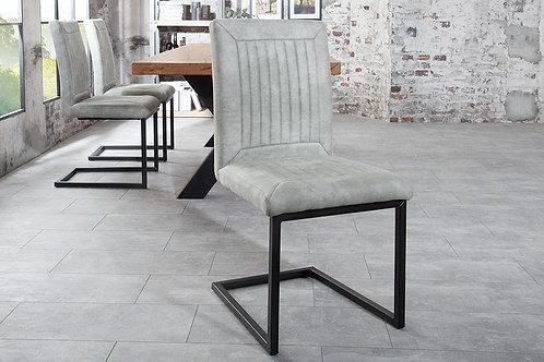 Chaise luge design Bristol gris pierre 92 cm