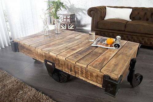Table basse design Rallway de type industriel120cm
