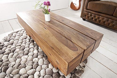 Table basse design Bolt bois massif 100cm