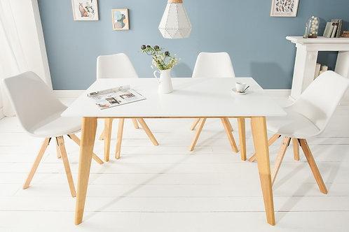 Table à manger design Scandinavia 120cm blanc