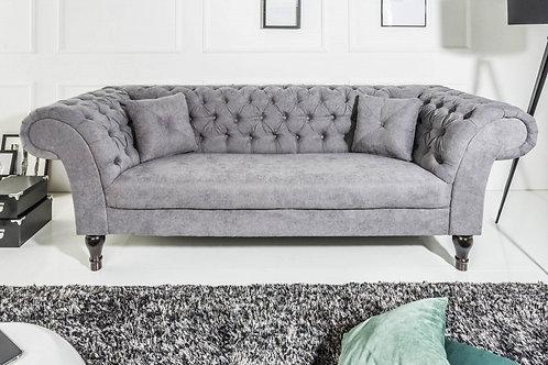 Canapé design Euphoria 3 places tissu gris 225 cm