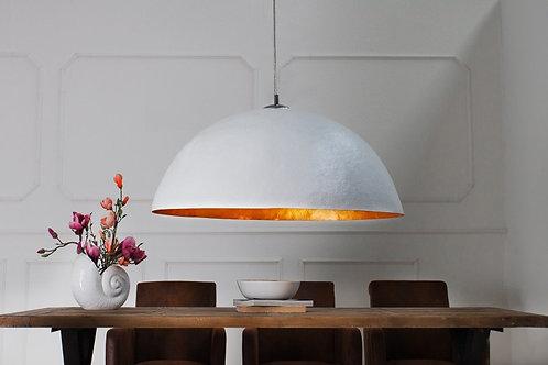 Suspension design Glow blanc-or XL 70cm