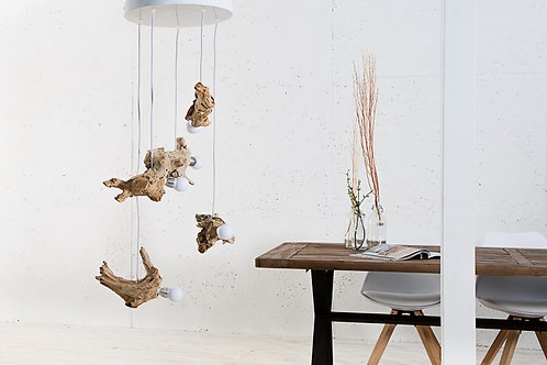Lampe à suspention design Hypnotic en bois flotté