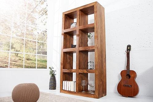 Bibliothèque design Makassar bois massif palissandre 180 cm