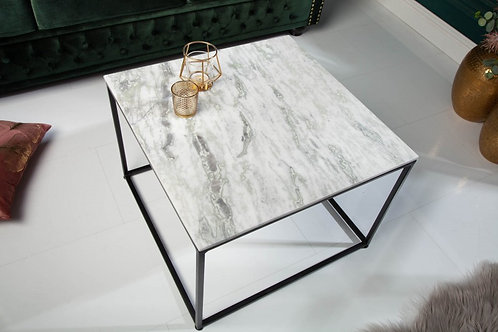 Table basse Elements 50cm marbre blanc