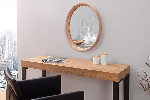 Miroir design Oak ovale en bois massif chêne  53 cm