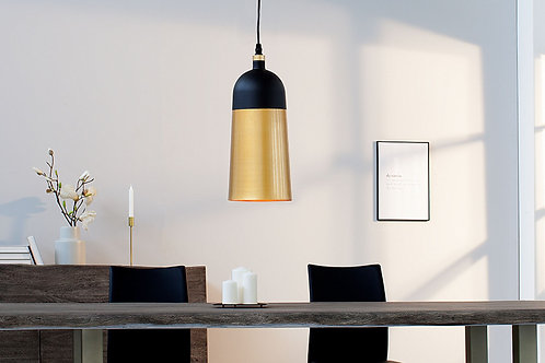 Suspension design Modern métal noir/or Saba 140 cm