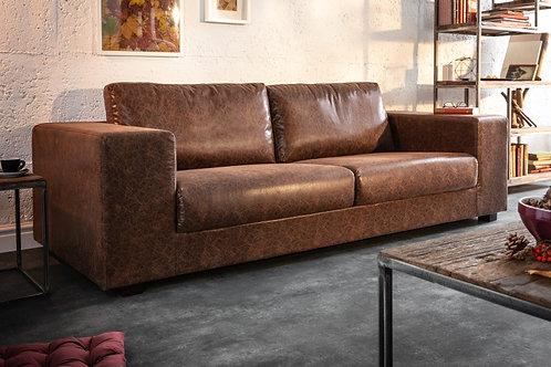 Canapé Lounger 220cm marron vintage