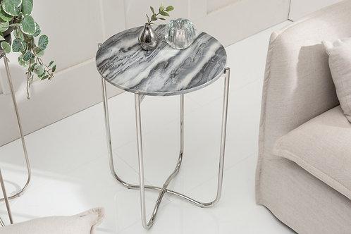 Table d'appoint Noble II 38cm marbre gris argent
